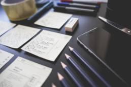 UI/UX design sketches