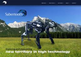Sabertooth Website Desig