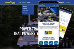 Goodyear Belts B2B ecommerce website